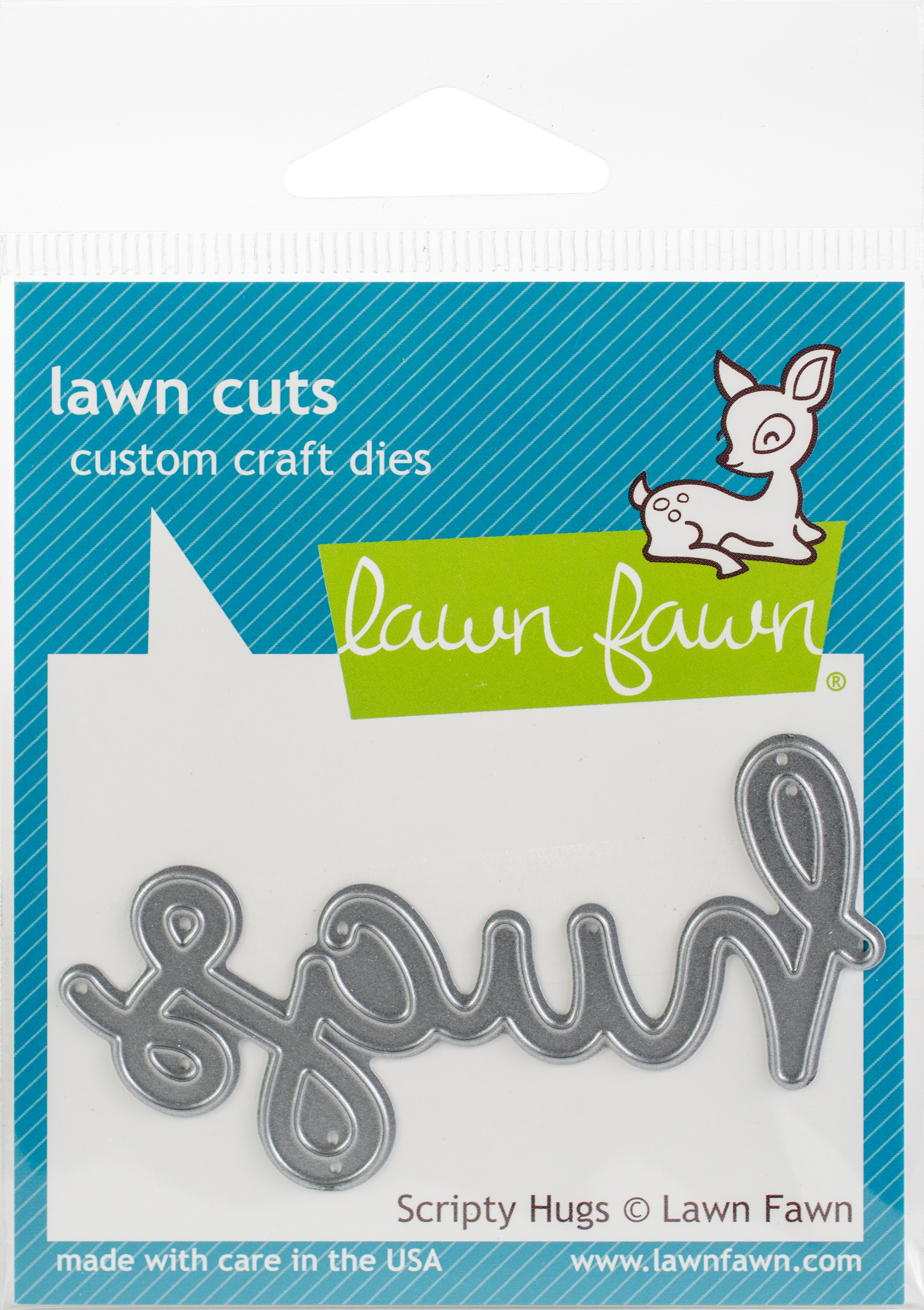Lawn Cuts Custom Craft Die -Scripty Hugs