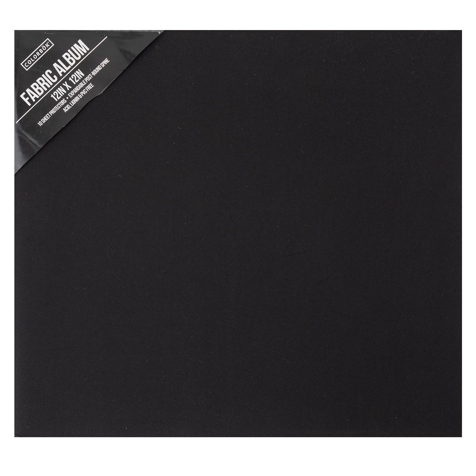 Colorbok Post Bound Fabric Album 12X12-Black