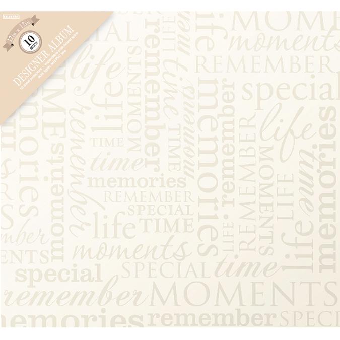 Colorbok Post Bound Album 12X12-Memories -Cream