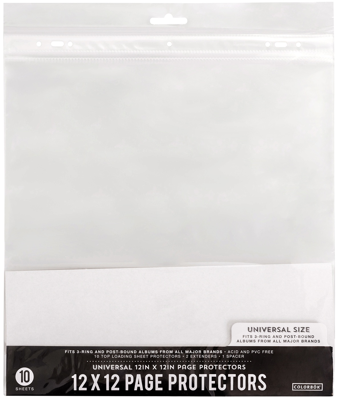 Colorbok Universal Refill Pages 12X12 10/Pkg-