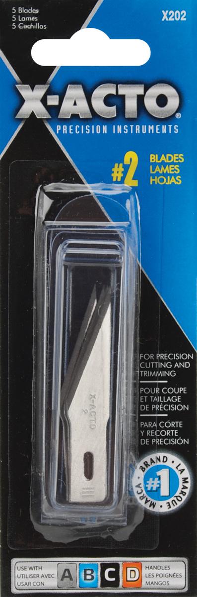 X-ACTO(R) #2 Refill Blades 5/Pkg-
