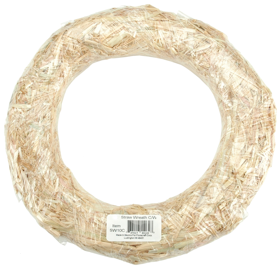 8 ROUND  -STRAW WREATH WRAPPED