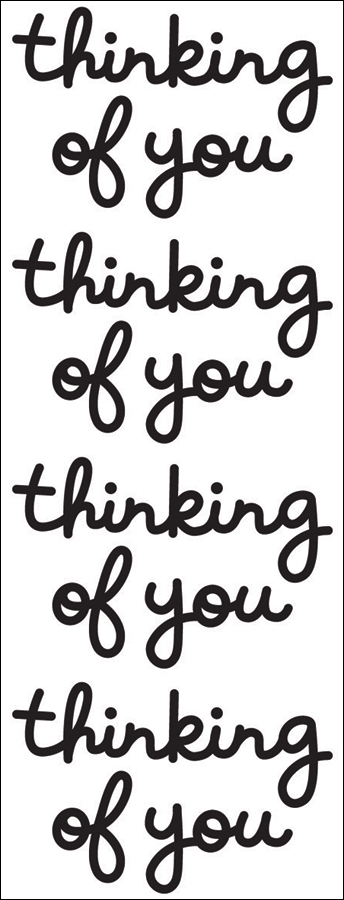 Thinking Of You Stickers-Beetle Black