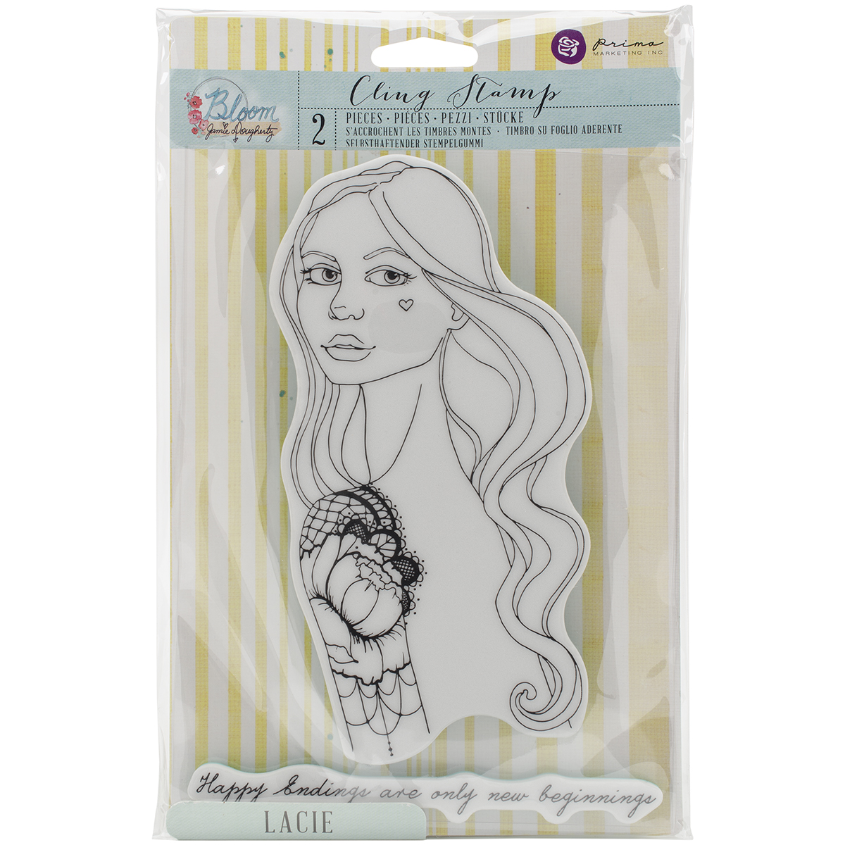 Bloom Cling Rubber Stamps 8X6-Catrina