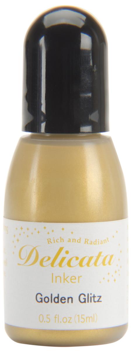 Delicata Pigment Ink Refill .5oz-Golden Glitz