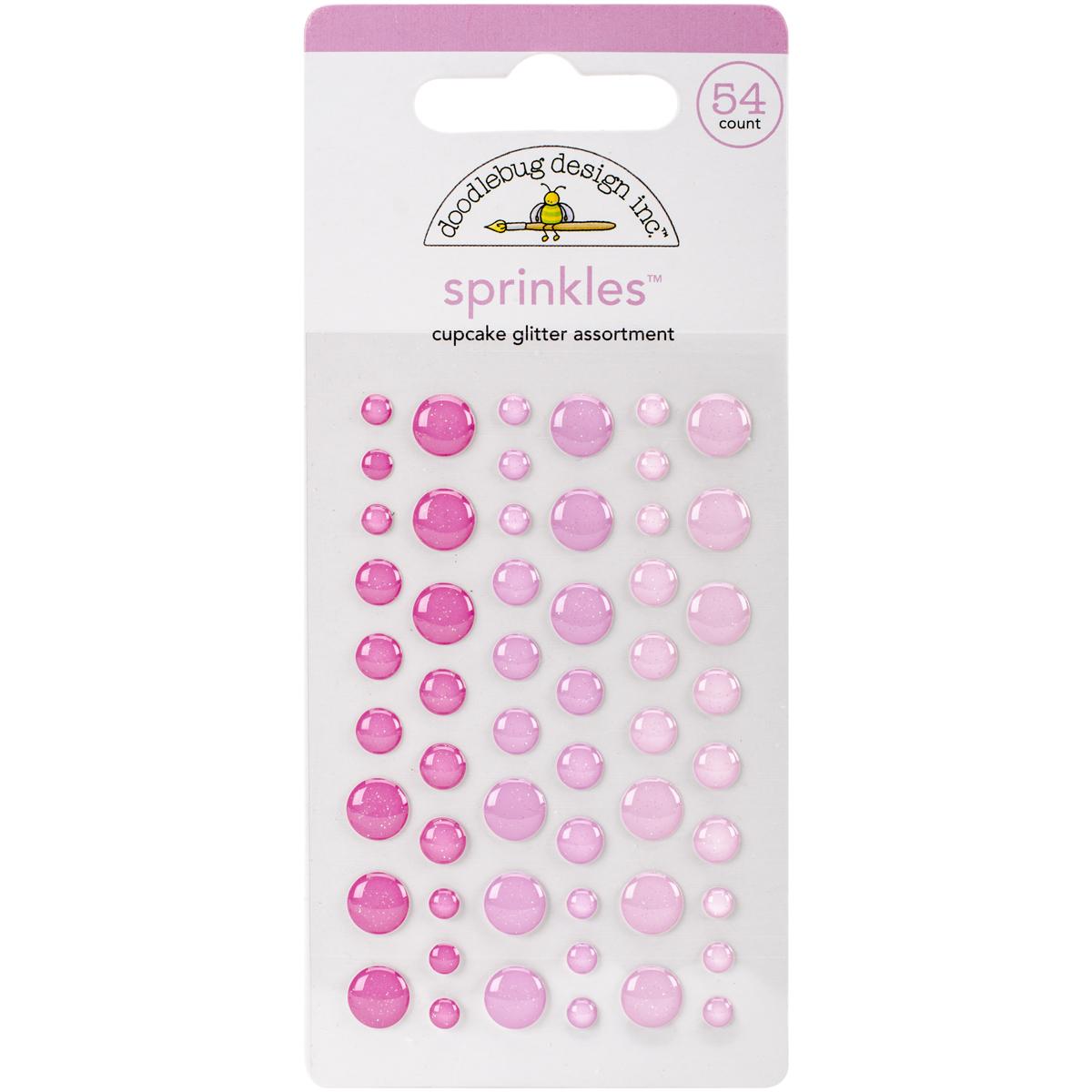 Doodlebug Sprinkles Adhesive Glitter Enamel Dots 54/Pkg-Cupcake