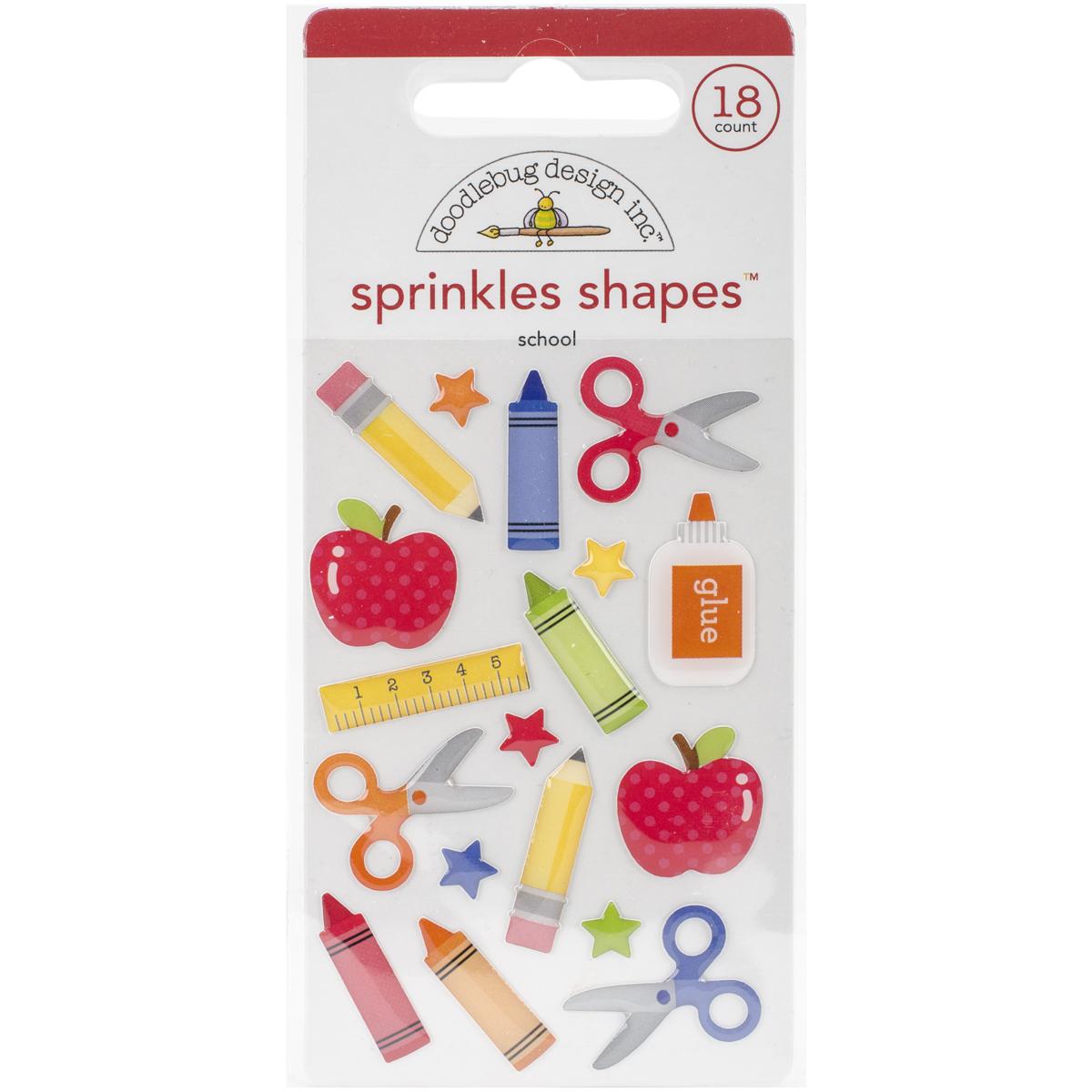 Doodlebug Sprinkle Shapes School