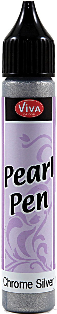Viva Decor Pearl Pen 25ml-Silver Chrome