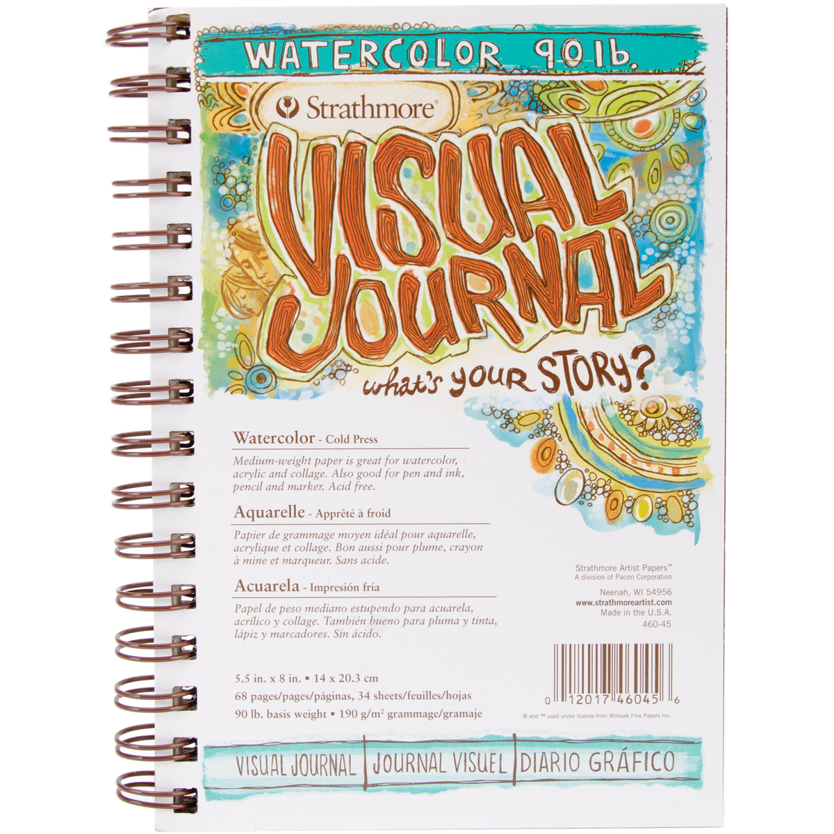 Strathmore Visual Journal Watercolor 5.5X8-34 Sheets