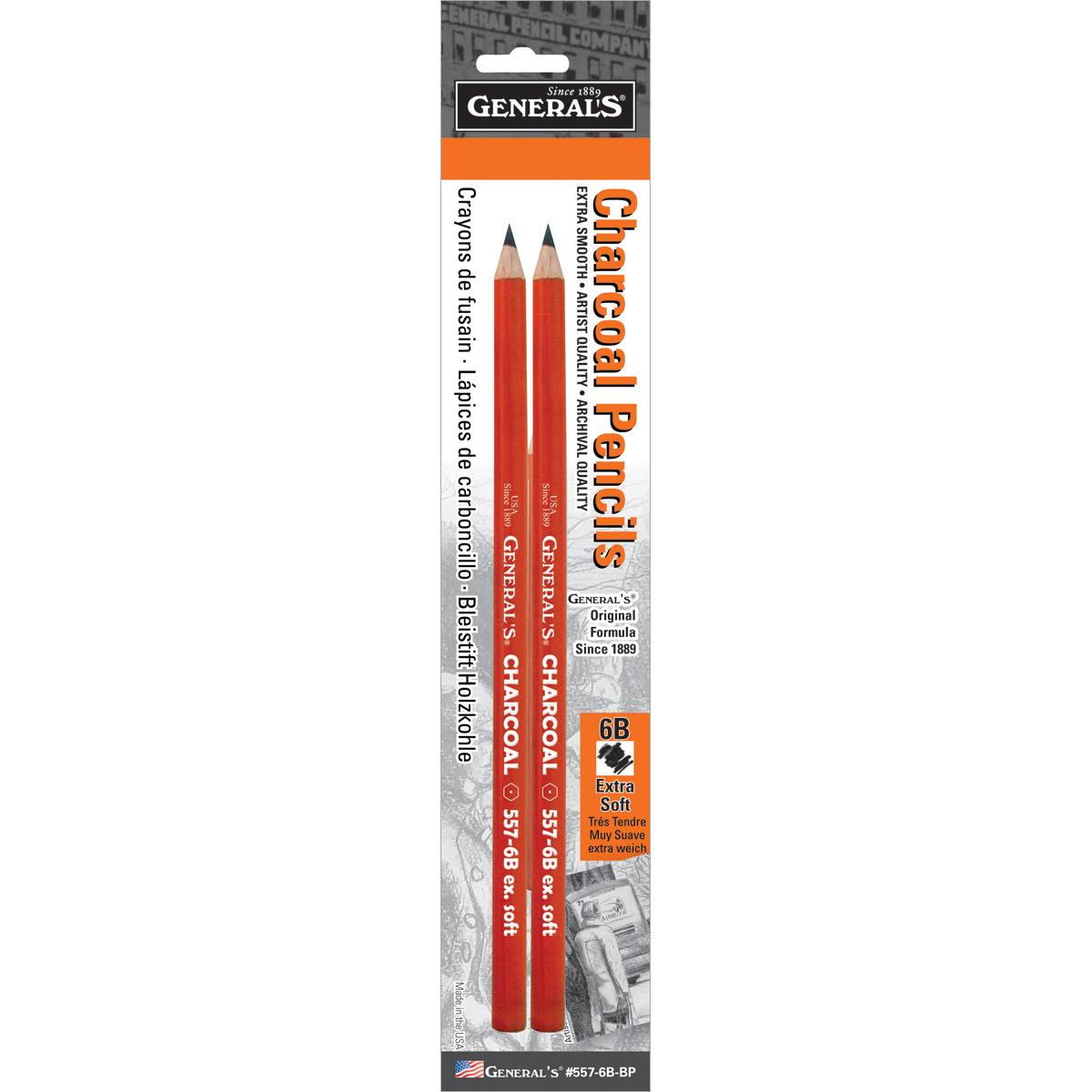 Charcoal Pencils 2/Pkg-6B