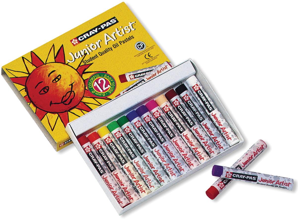 Cray-Pas Junior Artist Oil Pastels-12/Pkg