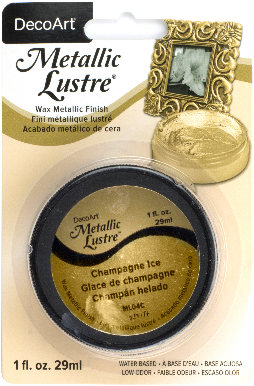 DecoArt Metallic Lustre Wax Finish 1oz-Champagne Ice