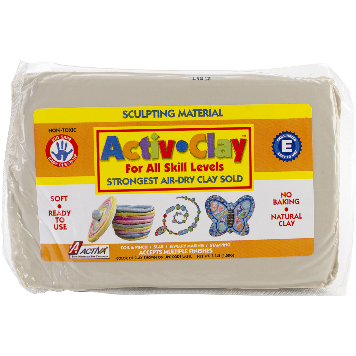 Activ-Clay Air-Dry Clay 3.3lb-White