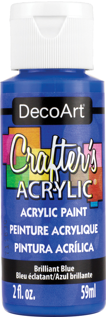 Crafter's Acrylic All-Purpose Paint 2oz-Brilliant Blue