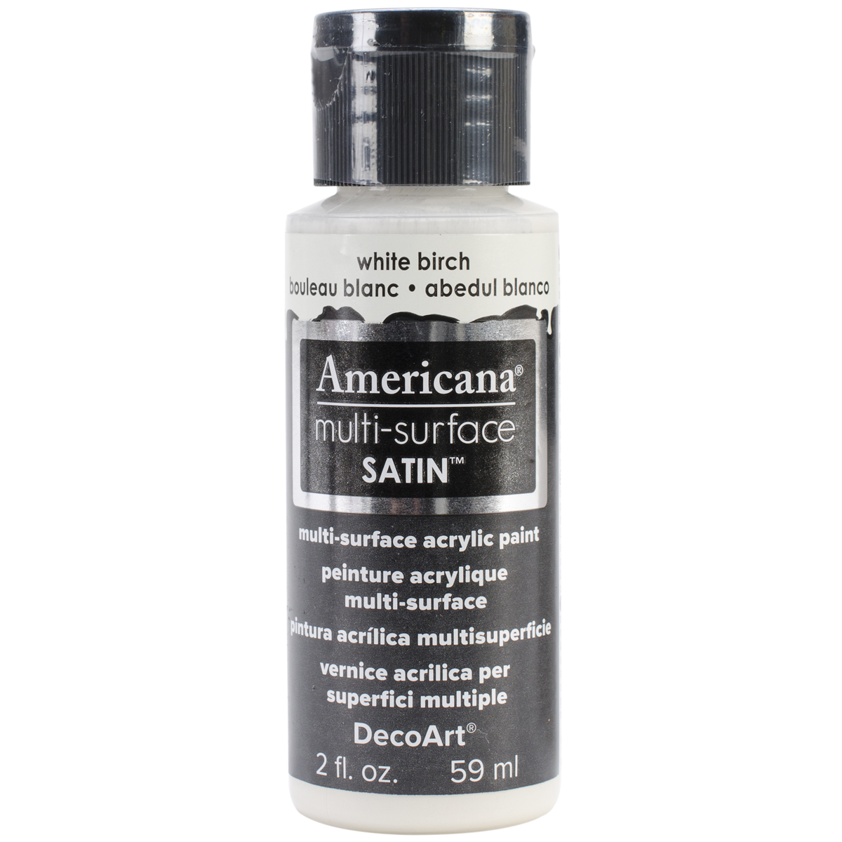 Americana Multi-Surface Satin Acrylic Paint 2oz-White Birch