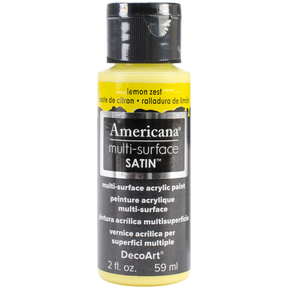 Americana Multi-Surface Satin Acrylic Paint 2oz-Lemon Zest