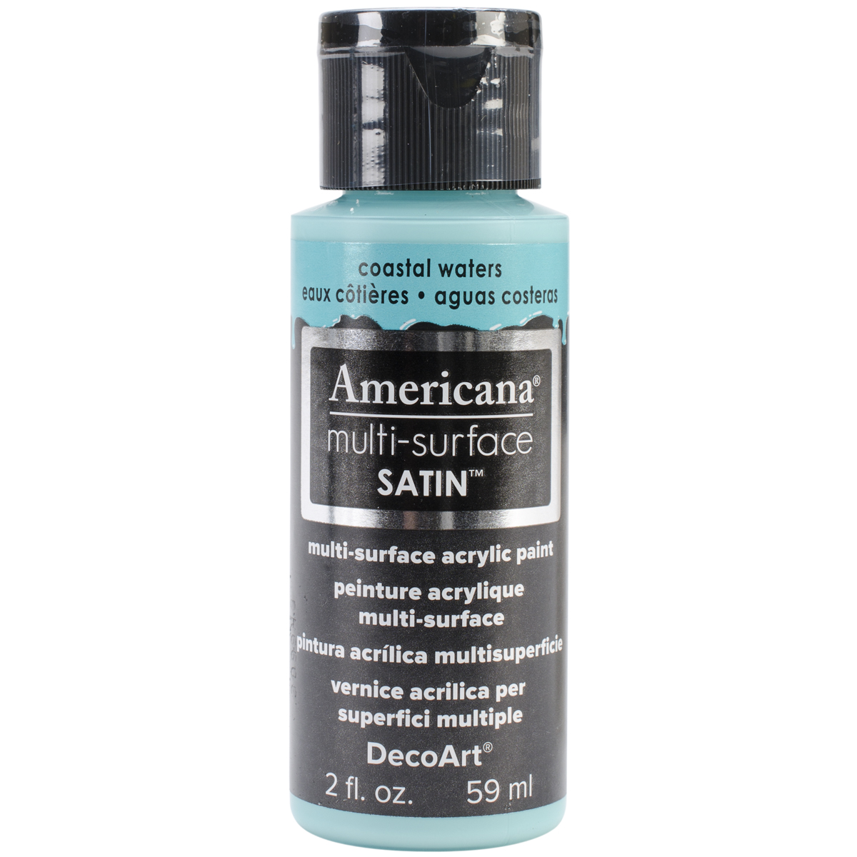 Americana Multi-Surface Satin Acrylic Paint 2oz-Coastal Waters