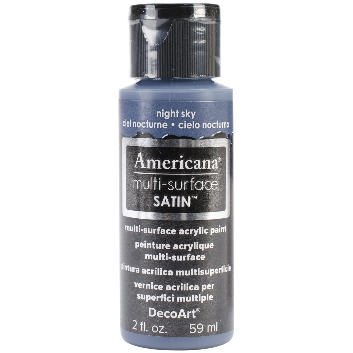 Americana Multi-Surface Satin Acrylic Paint 2oz-Night Sky