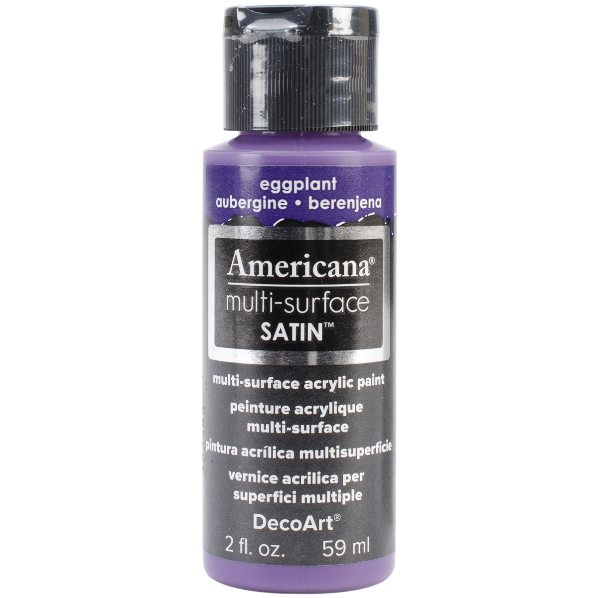 Americana Multi-Surface Satin Acrylic Paint 2oz-Eggplant