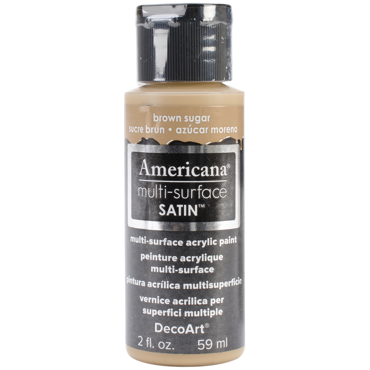 Americana Multi-Surface Satin Acrylic Paint 2oz-Brown Sugar