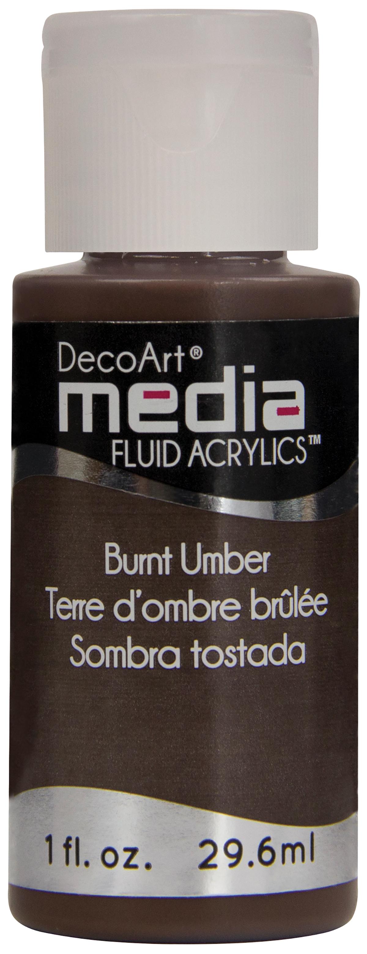 DecoArt Media Fluid Acrylics Paint 1oz-Burnt Umber (Series 1)
