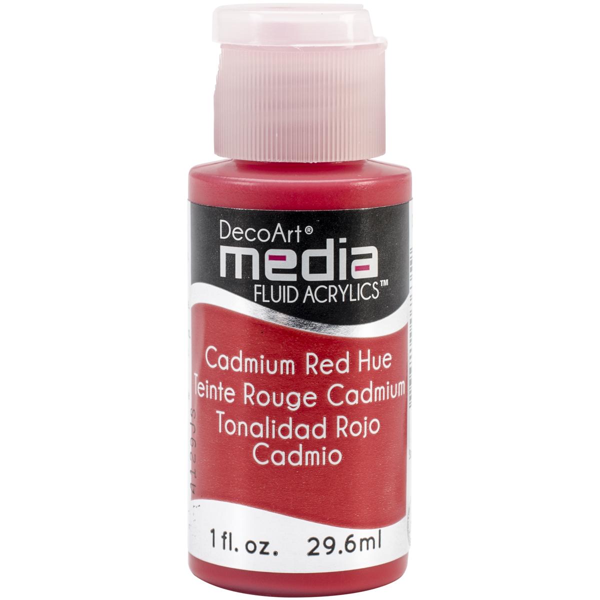 DecoArt Media Fluid Acrylics Paint 1oz-Cadmium Red (Series 3)