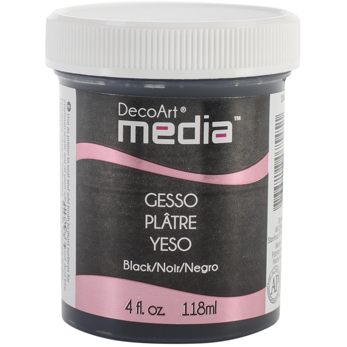 DecoArt Media Gesso 4oz-Black