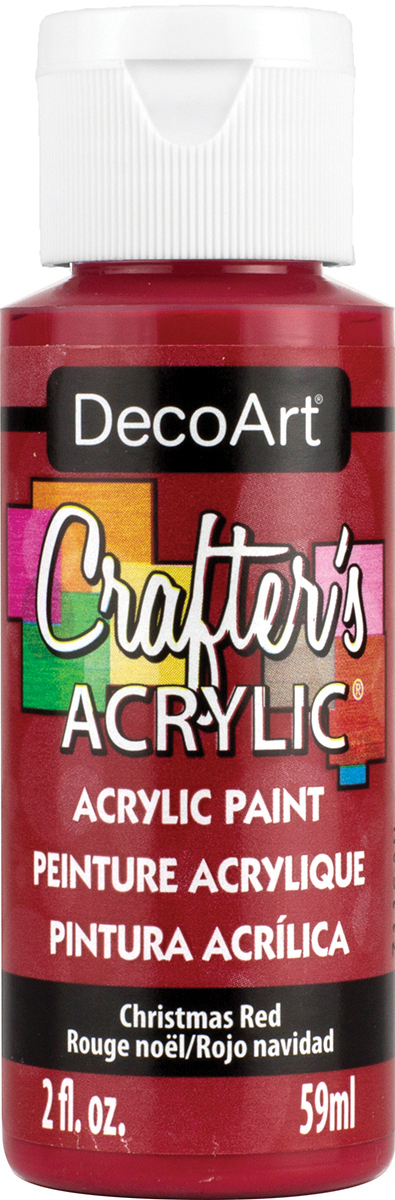 Crafter's Acrylic All-Purpose Paint 2oz-Christmas Red