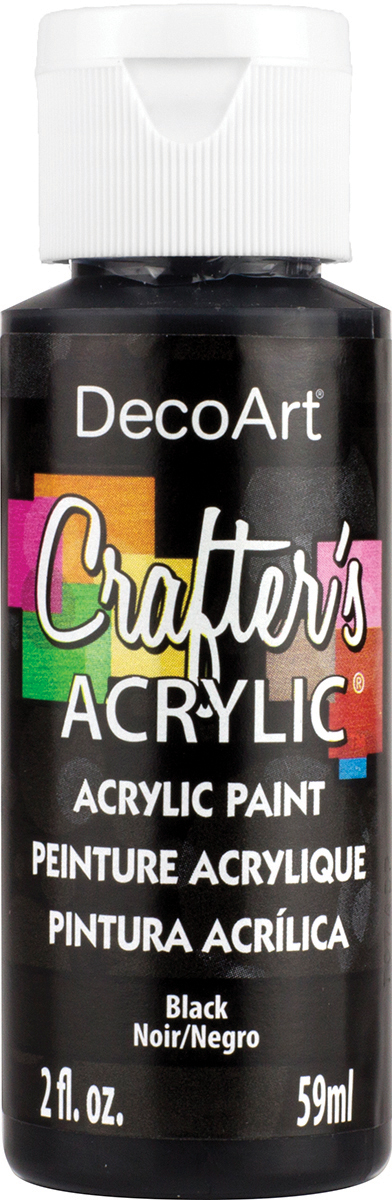 Crafter's Acrylic All-Purpose Paint 2oz-Black
