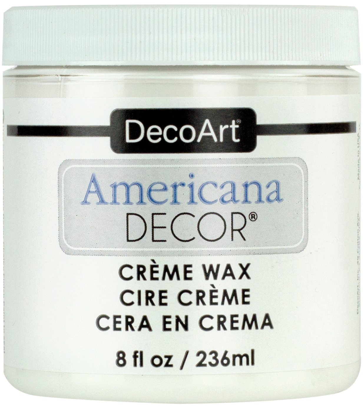 Americana Decor Creme Wax 8oz-Clear