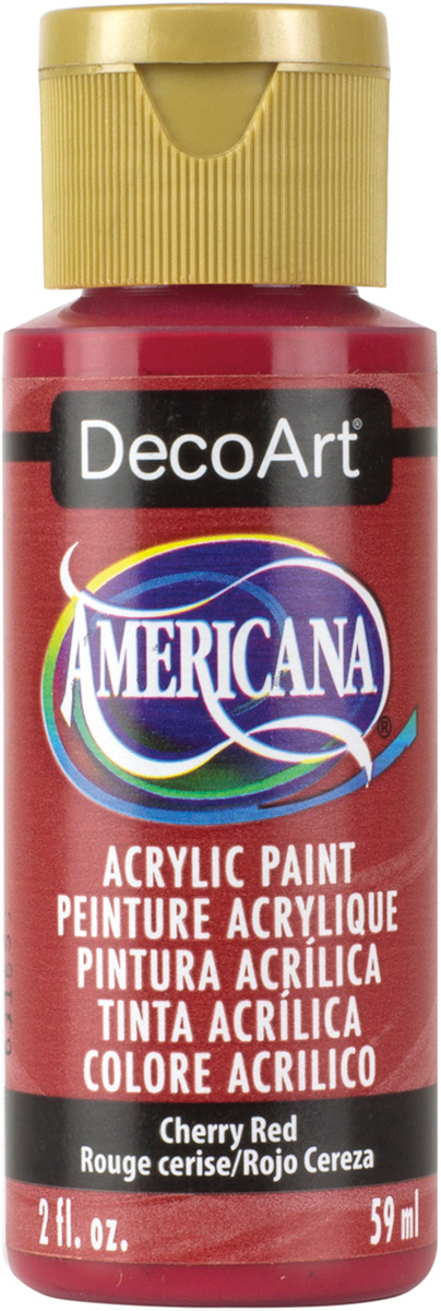 Americana Acrylic Paint 2oz-Cherry Red - Semi-Opaque