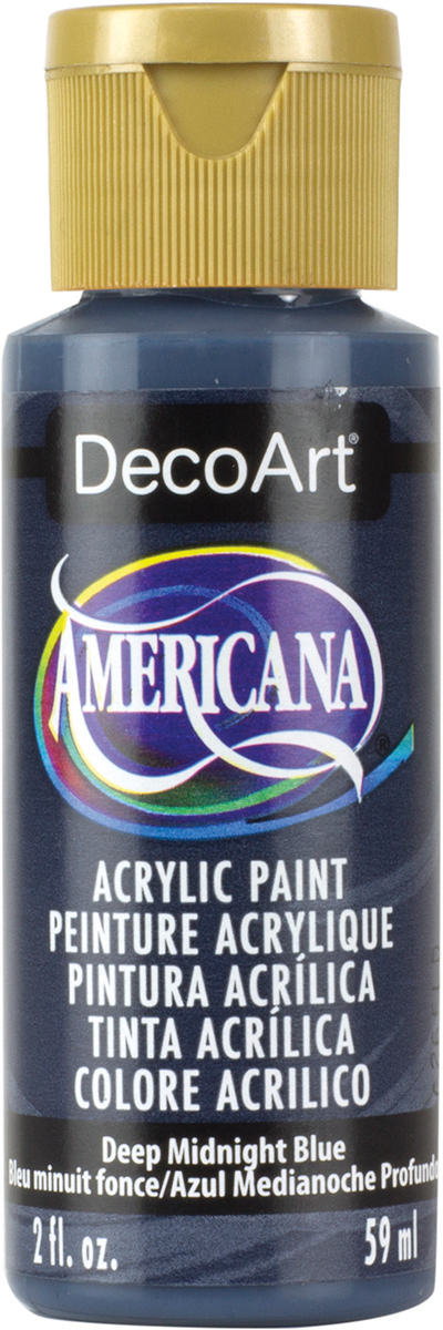 Americana Acrylic Paint 2oz-Deep Midnight Blue - Opaque