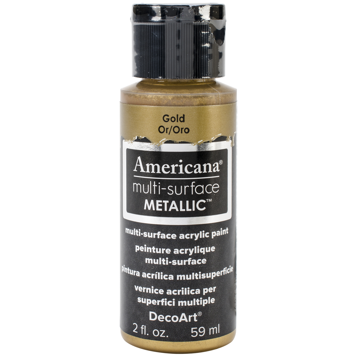 Americana Multi-Surface Metallic Acrylic Paint 2oz-Gold