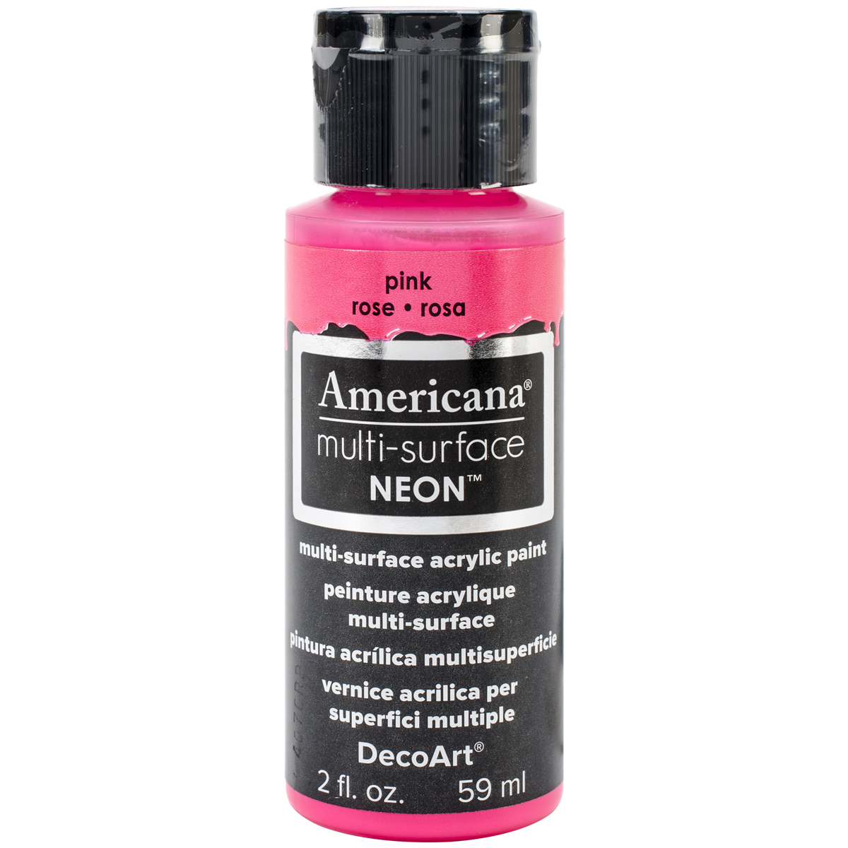 Americana Multi-Surface Neon Acrylic Paint 2oz-Pink