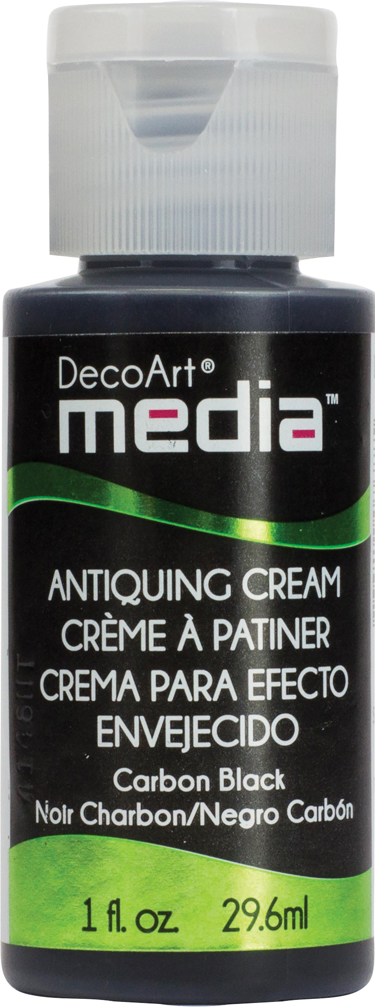 DecoArt Media Antiquing Cream 1oz-Carbon Black