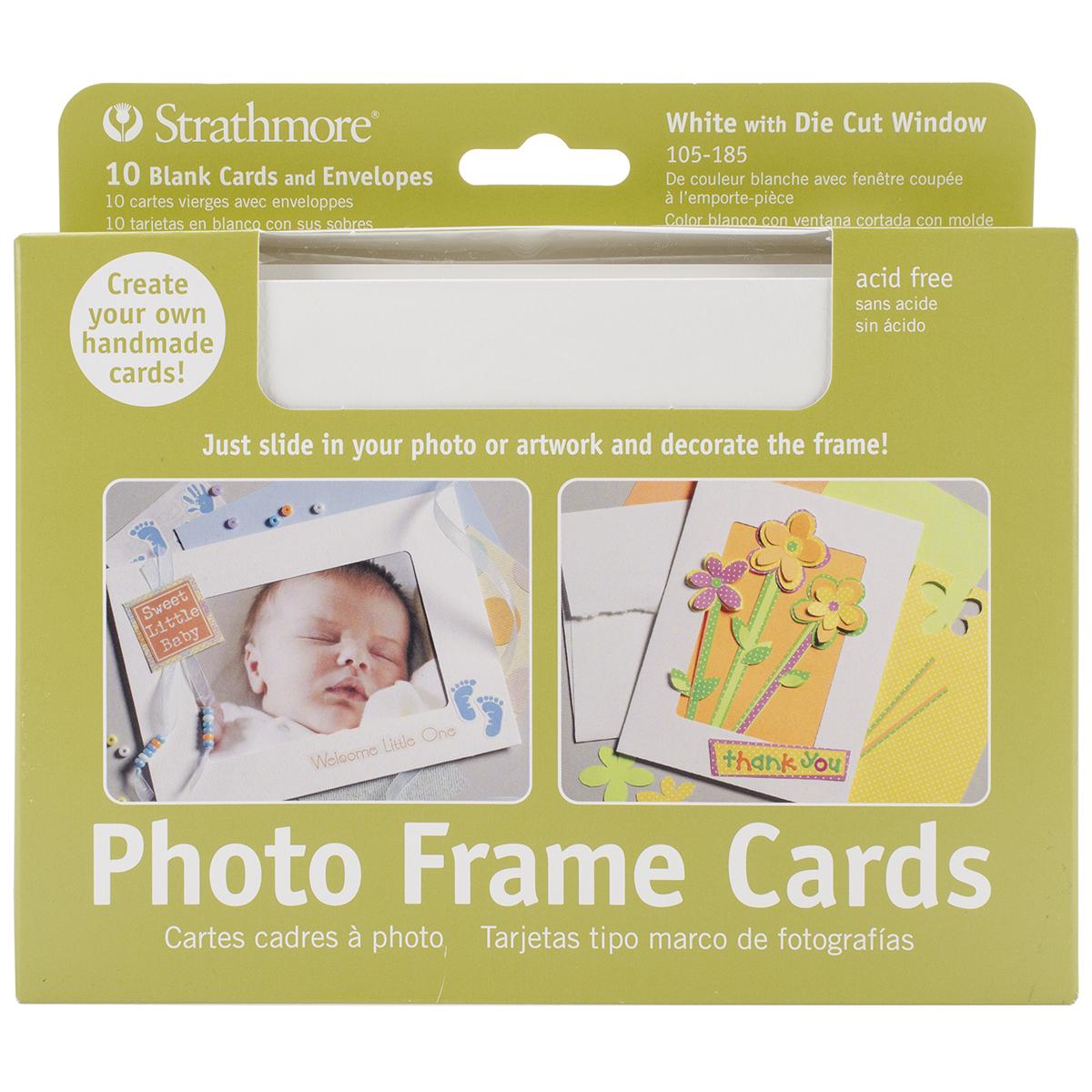 CARD PHOTO FRAME WHITE 5X7 10 PACK