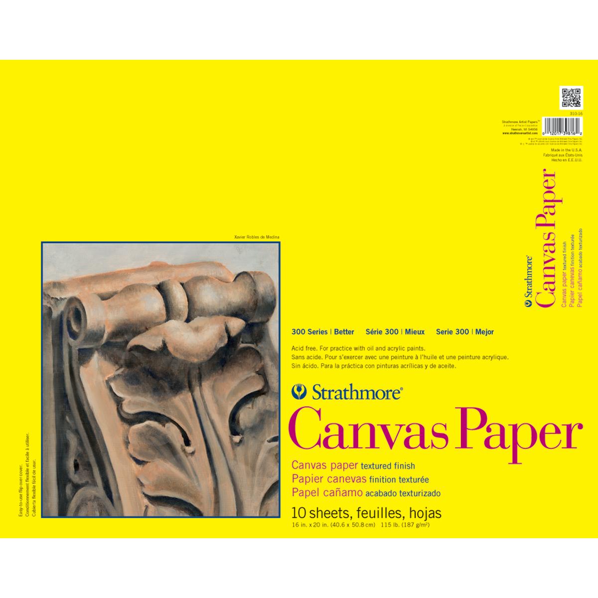 10 SHEETS -CANVAS PAPER PAD - CLEARANCE - NO FURTHER DISCOUNTS/NO RETURNS