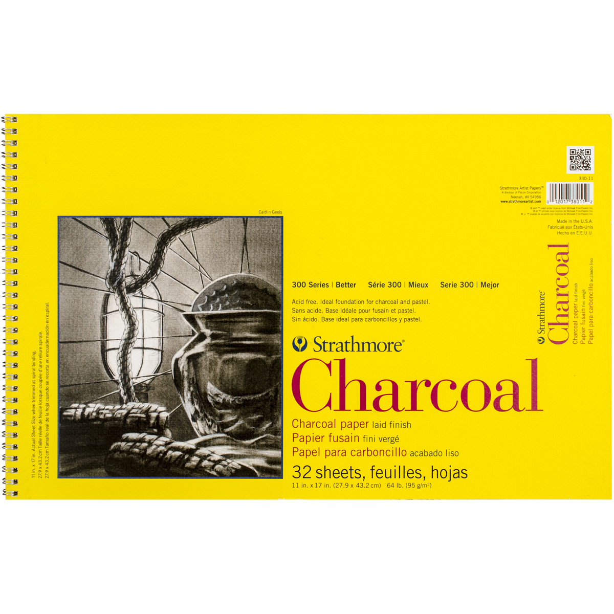 CHARCOAL 300 11X17 SPIRAL BOUND 32 SHEETS