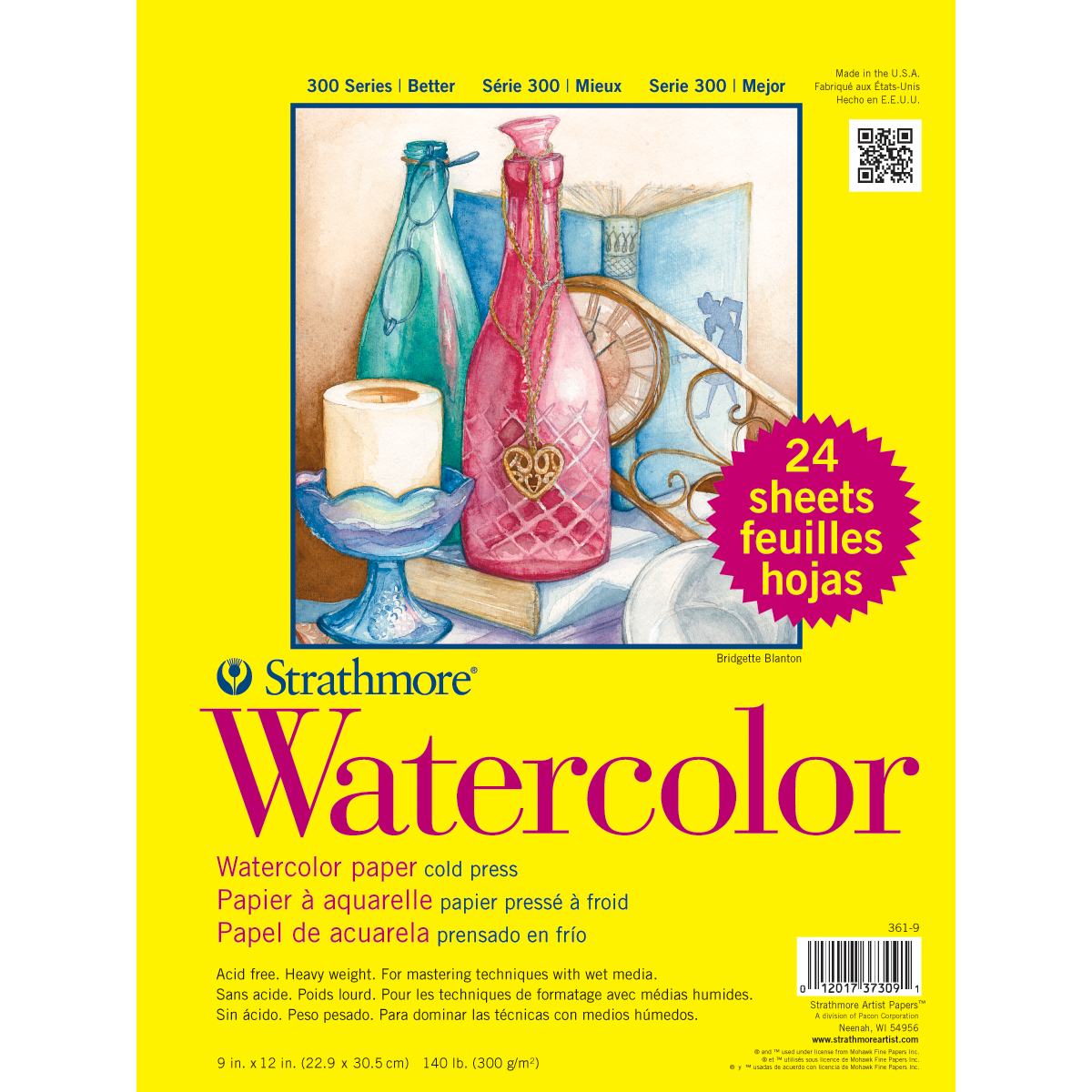 Strathmore Watercolor Class Pack 9X12-24 Sheets