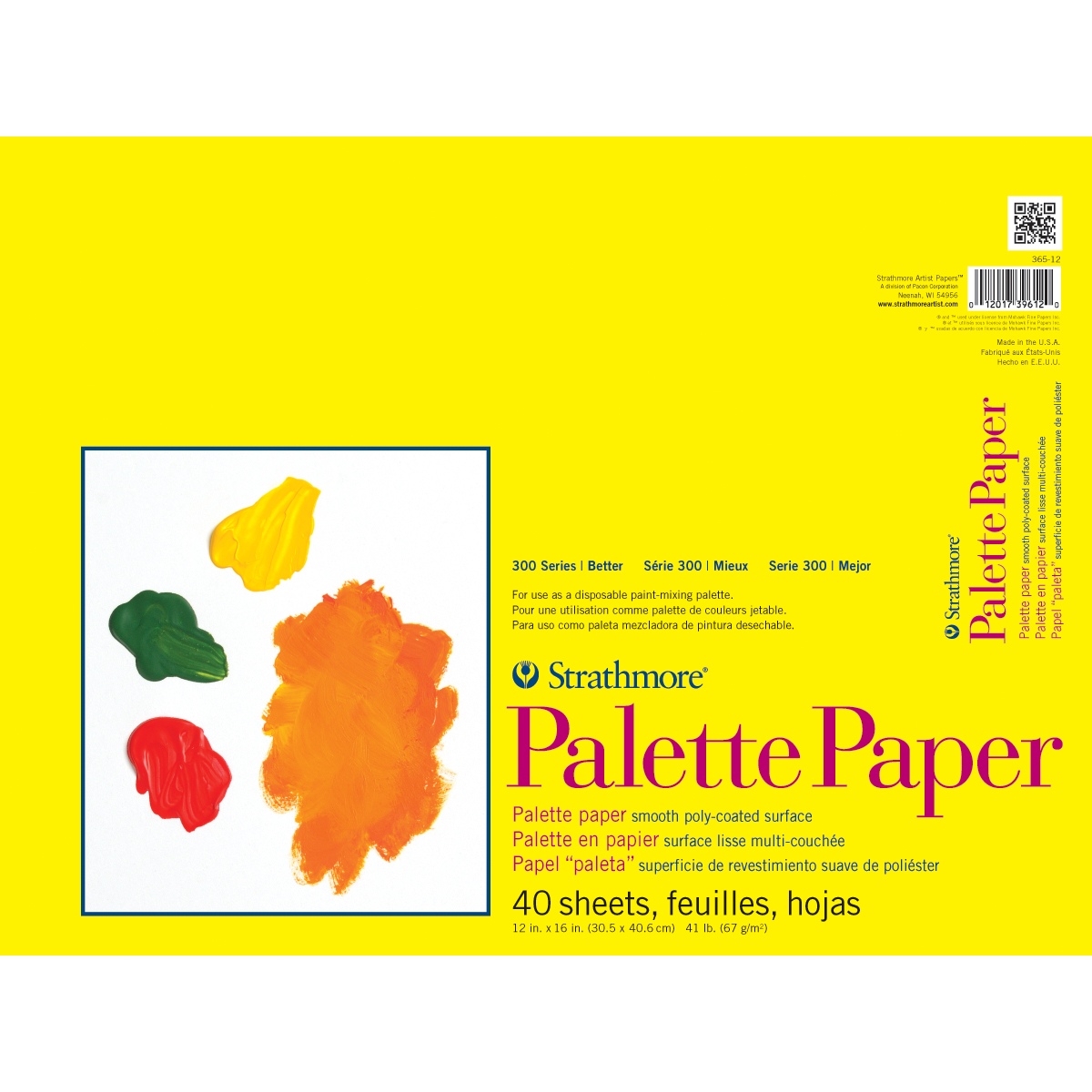 Strathmore Palette Paper Pad 12X16-40 Sheets