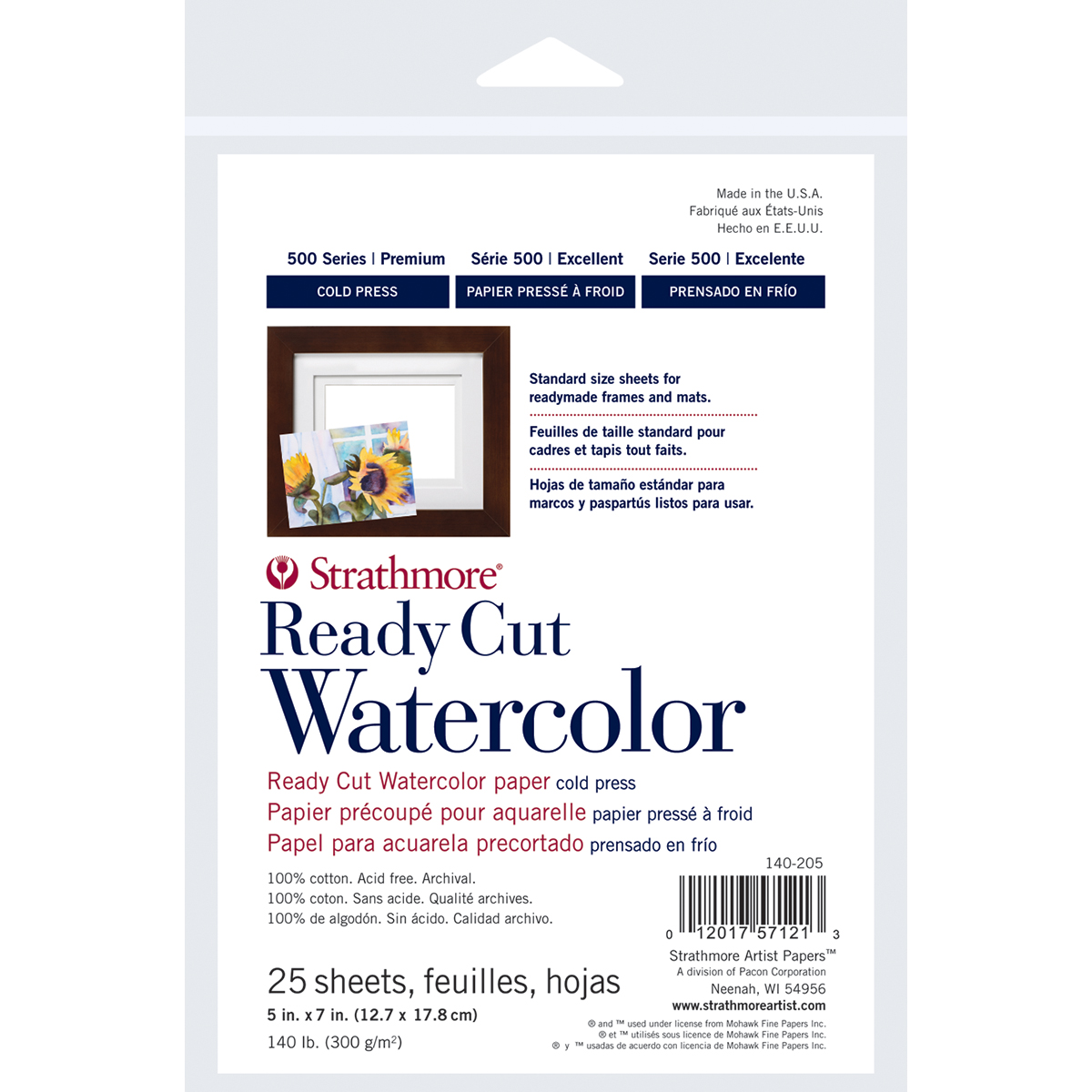 Strathmore Watercolor Paper Pack 5X7-25 Sheets