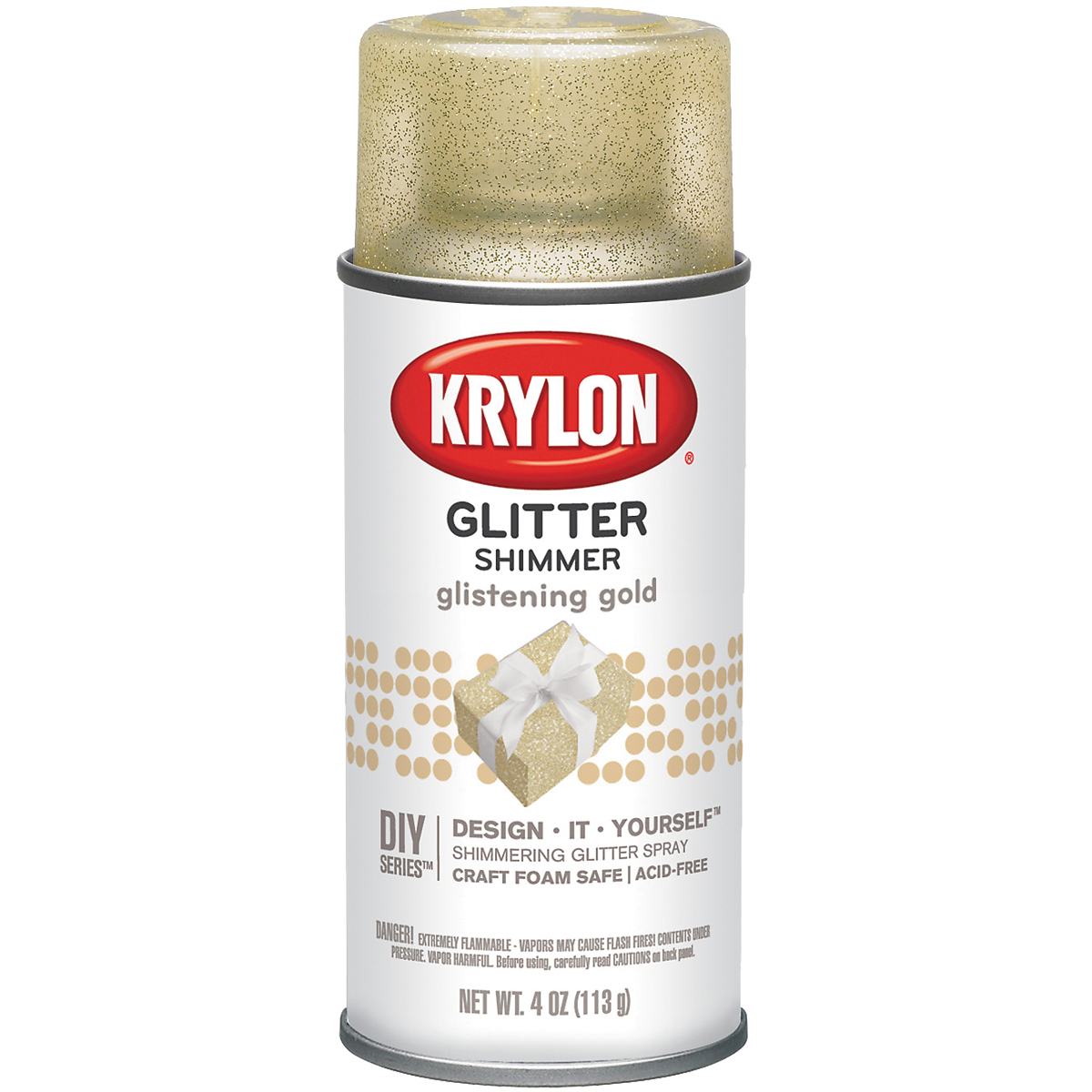 Glitter Aerosol Spray 4oz-Glistening Gold