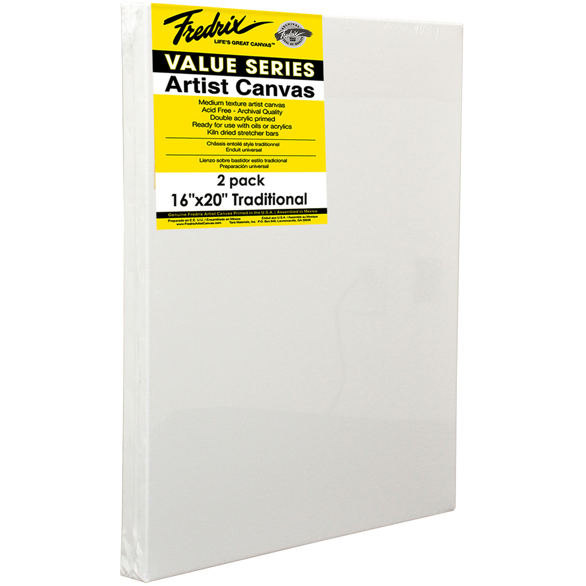 Tara Fredrix Value Stretch Canvas Twin Pack-16X20