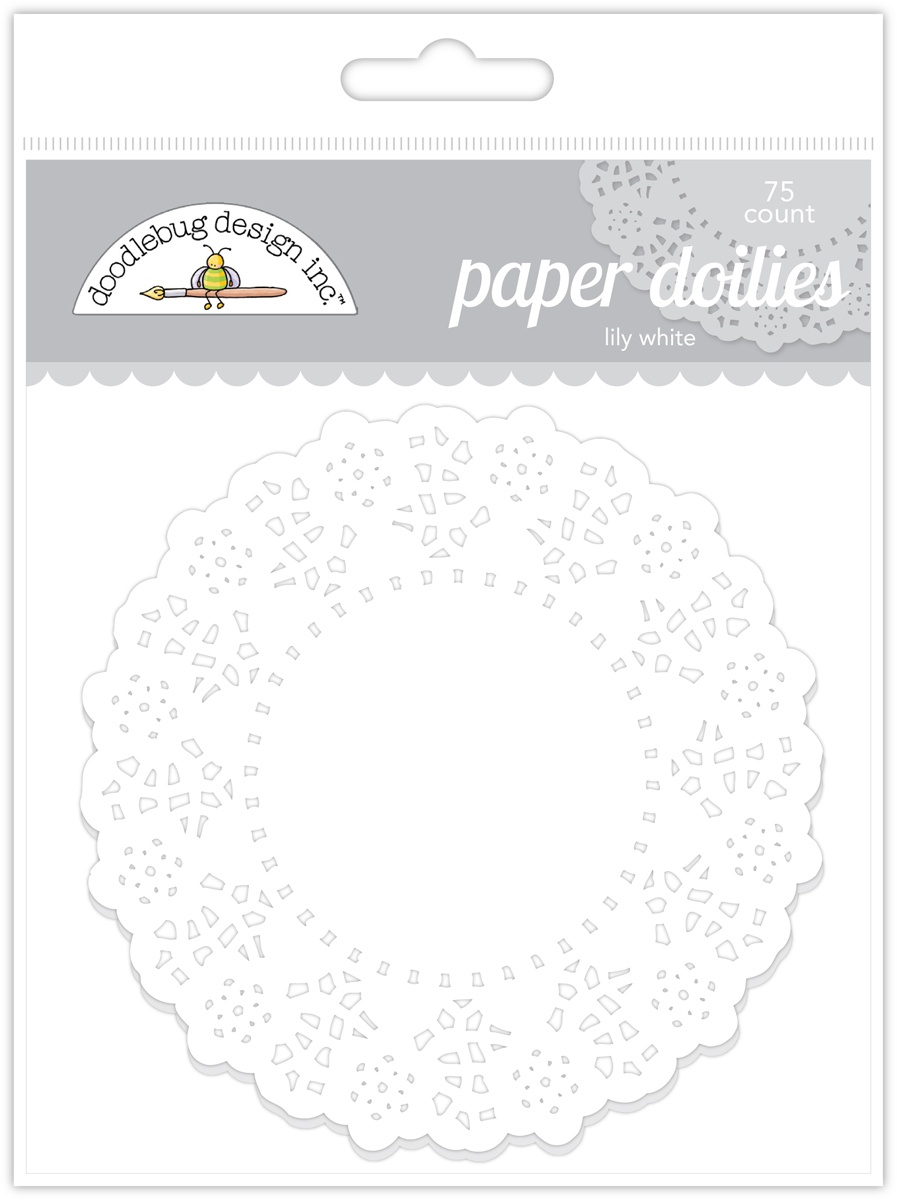 Doodlebug Doilies 4.5 75/Pkg-Lily White-Click to see all!
