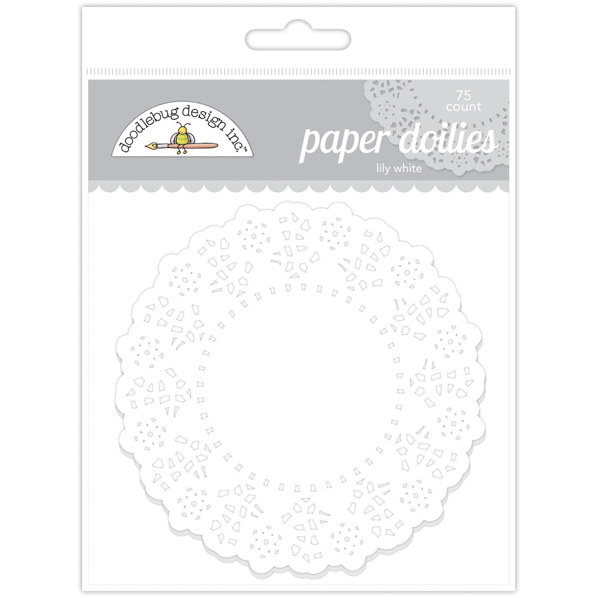 Doodlebug Doilies 4.5 75/Pkg-Lily White