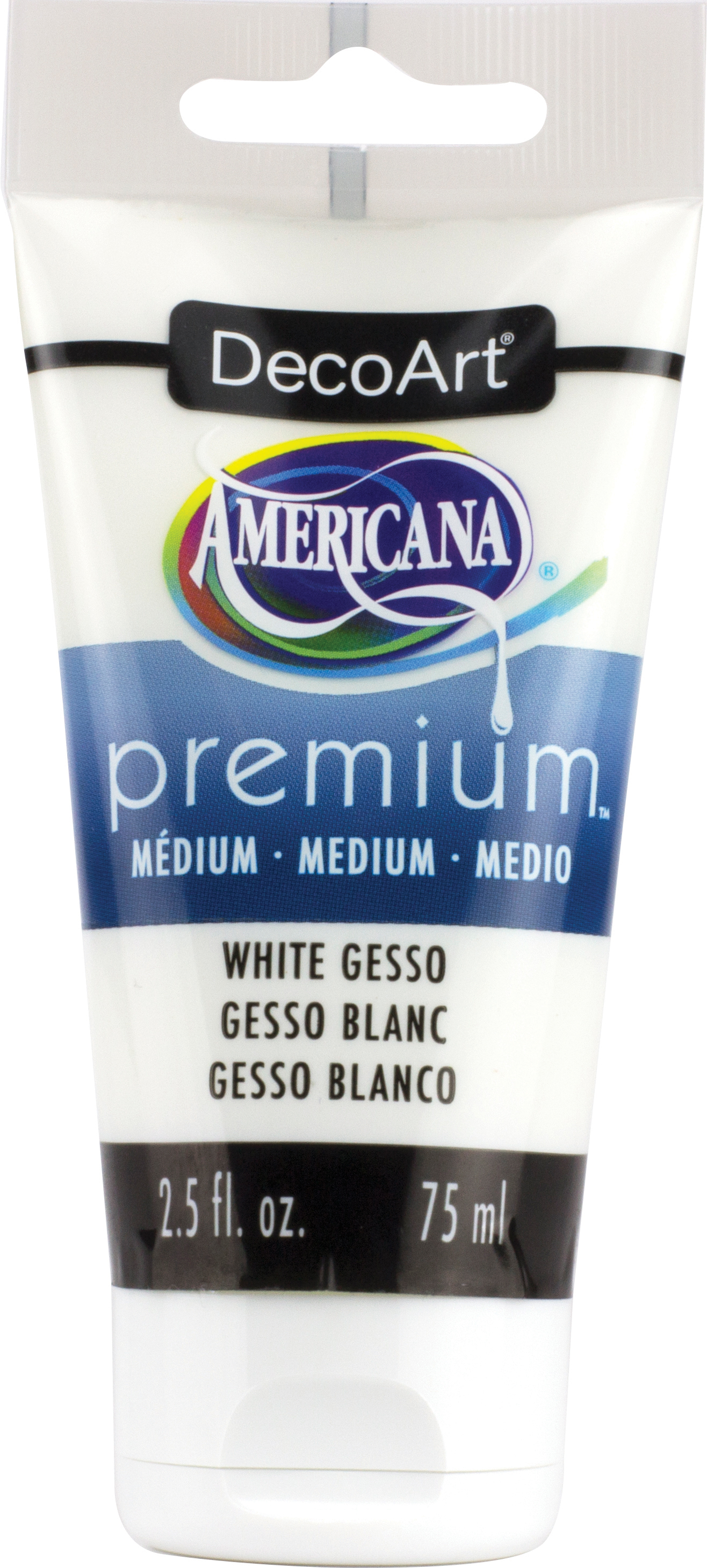 Americana Premium Acrylic Medium Paint Tube 2.5oz-White Gesso