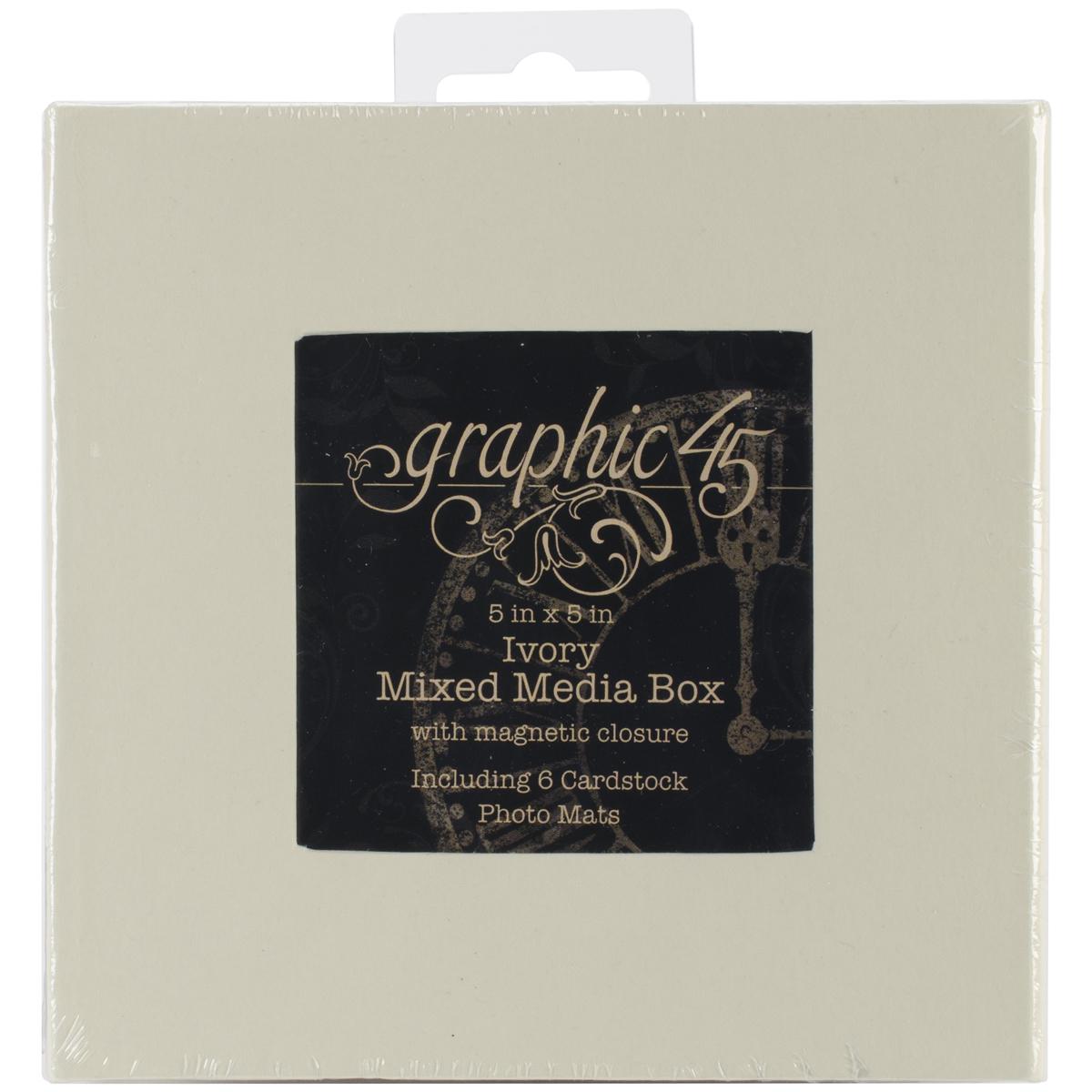 G45 5x5 Mixed Media Box Ivory