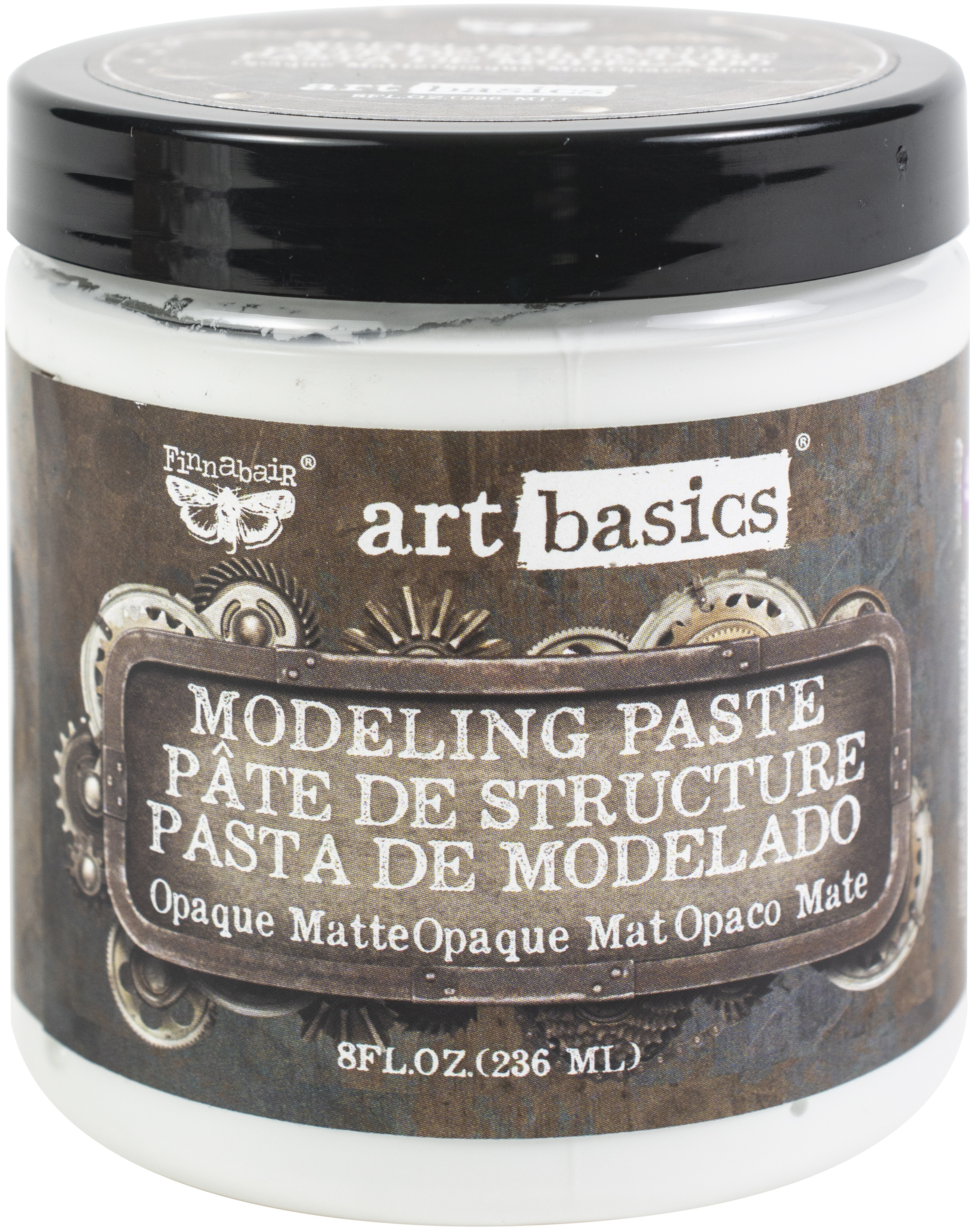 Finnabair Art Basics Modeling Paste - Opaque Matte 8oz