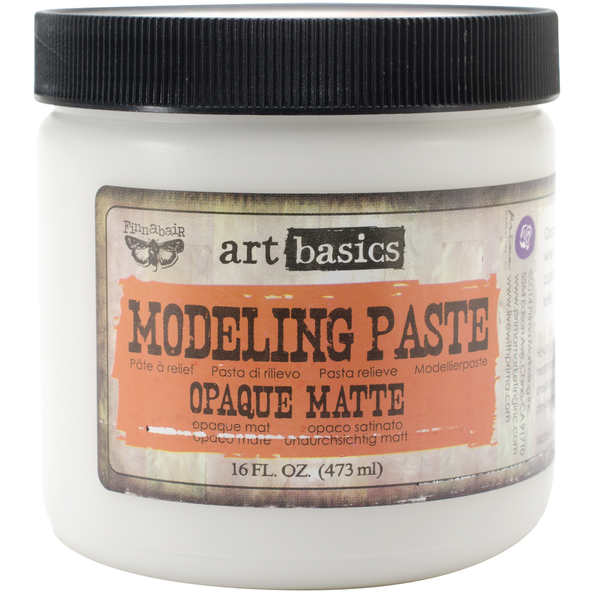 Finnabair Art Basics Modeling Paste 16oz-Opaque Matte
