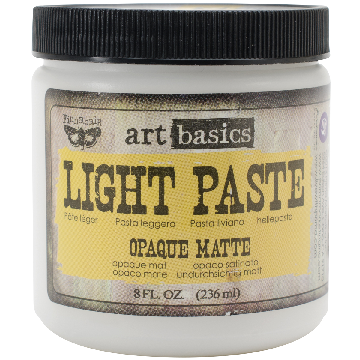 Finnabair Art Basics Light Paste 8oz-Opaque Matte